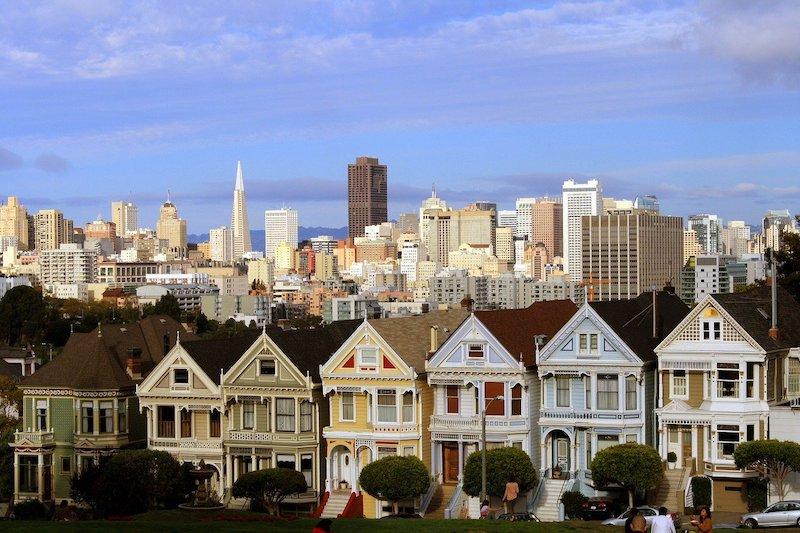 bow window ou fenêtres en saillie à San Francisco