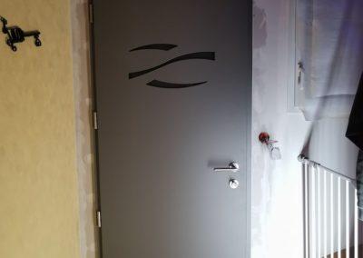 porte entrée aluminium intérieur nant'artisans