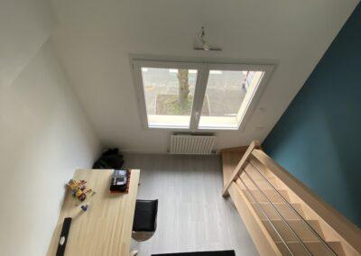 création d'une chambre dans combles aménagées Nantes