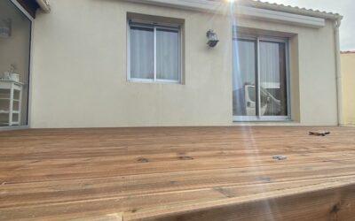 Réalisation d'une terrasse en bois à Haute-Goulaine