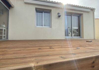 chantier de terrasse bois à Haute Goulaine par Nant'Artisans