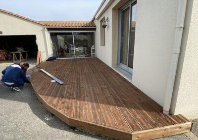 terrasse bois après le passage de Nant'artisans